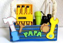 Manualidades para día del padre / Manualidades para el día del padre-Paso a paso -DIY-Goma eva,reciclaje,pintura etc...
