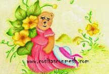 Pintura en tela / Paso a paso aprende cómo pintar en tela variados diseños. Flores,muñequitos,frutas y mucho más. Los tutoriales de pintura sobre tela los puedes ver en www.cositasconmesh.com