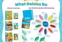 Girl Scout Daisies / Girl Scout Daisies are in grades K-1. They go on trips, learn about nature and science, and explore the arts and their communities. Girl Scout Daisies can also earn Learning Petals and receive participation patches.