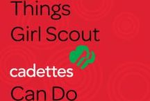 Girl Scout Cadettes / Girl Scout Cadettes are girls in 6th-8th grade. Under the guidance of a trained adult advisor, girls mix and match activities and resources to suit their needs while giving back to their communities. They connect with each other and build self-esteem and confidence in their skills as they work on a range of projects and gain life experiences.