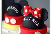 Mickey & Minnie Cakes