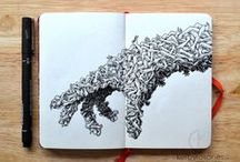 Awesome uni pin pen art