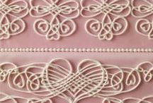 Royal Icing Cakes / Royal Iced themed cakes are very on trend right now - from delicate lace work to monogrammed details. Royal icing is the perfect way to create a cake as individual as your client!