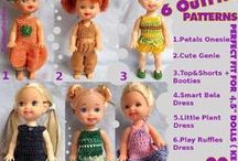 Small Dolls Crochet / Crochet patterns for dolls like Kelly, Evi Love etc.