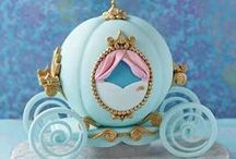 Cinderella Cakes / Cinderella is the movie of the moment so of course lots of Cinderella cakes are in demand and we've collated a little inspiration for you! Many items to recreate these ideas can be found in our online shop here http://www.sweetsuccess.uk.com/Home.asp