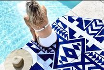 ➕ OCEANUS COLLECTION ➕ / A luxurious and unique range of beach towels with a matching beach bag. Featuring our signature metallic modal threads and geometric designs woven with the highest-quality cotton, they are luxurious and unique! The metallic gold Halcyon backpack is made to take you from the beach to the City in the very best of style!