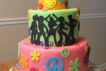 70's cake for 40th
