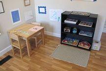 Montessori home / Criando um cantinho em casa de atividades Motessori para babys a partir de 18 meses. Especialmente para Sabrina.