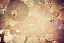Round Paper Lanterns / Round paper lanterns, irregular bamboo lanterns and eyelet lanterns all available from www.lightalantern.co.za in different colours and sizes.