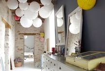 Paper Lanterns In The Home / Paper lanterns are a quick way to add colour and light to any room in your house.