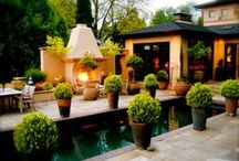 Indoor & Outdoor Gardening Design / Outdoors, backyards, landscape, transitions to inside, plants, foliage, flowers, gardening