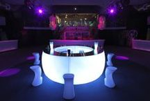 D BAR Collection / Make any bar configuration with the D Straight Bar and the D Curved Bar.  These bars come with LED lights.
