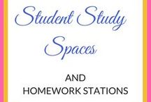 Study Spaces and Homework Stations / homework stations, study spaces, homework areas, study areas, homework caddy,