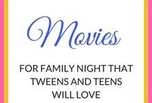 Movie Night / movie night, family night, movies for tweens, movies for teens