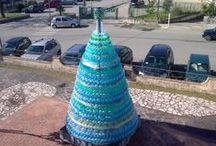 Eco-Progetto di Officina delle Idee / l'Eco-Albero di Officina delle Idee, interamente realizzato utilizzando bottiglie di plastica riciclate :)