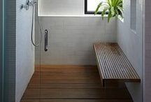 bench in the shower