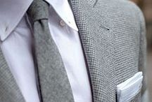 THE GRAY SUIT / Charming, fashionable suits in different shades of gray.