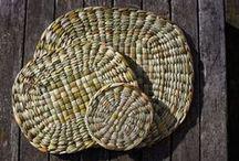 Rush Tableware / Tableware handwoven from English Bulrush.