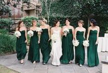 Green Wedding / Emerald, sage, mint, forest, lime, jade !! All of our favorite wedding ideas in shades of green.