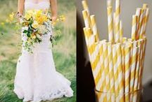 Yellow Wedding / Inspiration, ideas, and photography to pull off your yellow wedding color.