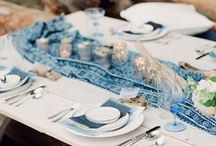 Blue Wedding / All shades and tones of blue to inspire your wedding day!