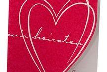 "Rote Hochzeitseinladungen / Hochzeitseinladungen in der Trendfarbe ""Rot"" sind ein wunderbarer Blickfang"