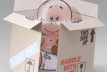 Lustige Geburtskarten / Lustige Geburtskarten als Dankeschön für die Glückwünsche und Geschenke nach der Geburt versenden.