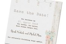 Save the Date Karten / Reservieren Sie doch Ihren Wunschtermin für die Hochzeit bei Ihrer Familie und Ihren Freunden mit einer Save-the-Date-Karte.