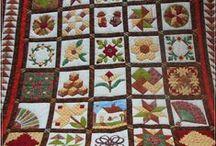 Patchwork - Quilts / Trabajos realizados con telas. Mantas, colchas, camino de mesa etc. www.manualidadespinacam.com