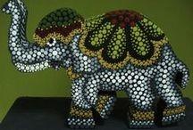 PUNTILLISMO / Trabajos realizados a base de puntos de distintos tamaños y colores.www.manualidadespinacam.com