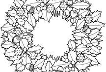 Julmönster att rita av