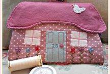 Patchwork complementos-apliques / Adornos y complementos de costura. Bolsos, llaveros etc. www.manualidadespinacam.com