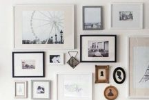Cuadros & Fotos / Ideas para colocar cuadros y fotos. Picture walls