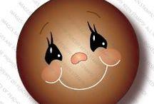 PINTAR OJOS Y BOCAS / Como pintar caras.            www.manualidadespinacam.com     ·