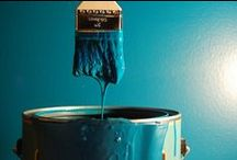 SHADES OF BLUE // BLEU / All shades of blue in your interior: for walls, furniture... in any rooms