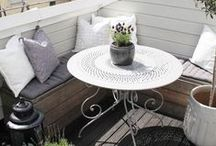 INTERIORS - BALCONY // Balcon / Inspirations to decorate your balcony! Comment aménager votre balcon? All ideas are here!