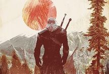 the witcher / wiedźmin, biały wilk