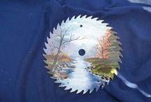 CD,s  DISCOS SIERRAS... / Ideas para decorar CDs serruchos,  palas y otras herramientas.     www.manualidadespinacam.com