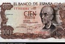 MONEDAS Y BILLETES DE ESPAÑA / Monedas y billetes de todos los tiempos.