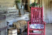 """Rocking Chair Porches . . . / I've always wanted a """"rocking chair"""" porch.  For now, I'll have to live vicariously through my pins.  : )"""