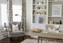 - Library | Study | Office - / by Fabrics & Furnishings