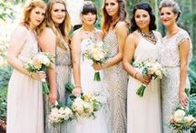 THE BRIDESMAIDS / Bridesmaid & Maid of Honour dress, accessories, and bouquet wedding inspiration.