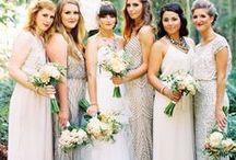 T H E / B R I D E S M A I D S / Bridesmaid & Maid of Honour dress, accessories, and bouquet wedding inspiration.