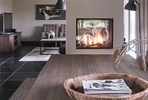 Maison Belle ❤ fire place - haard en kachel / Home inspiration fire place