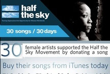 30 songs / 30 days / Legendary and emerging female musicians from around the world have come together to support the Half the Sky Movement. One song available every day from Sept. 3 to Oct. 2, 2012 / by Half the Sky Movement