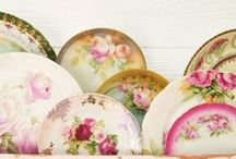 vintage tea cups + dishes! / by ♔ Norma Pederson ♔