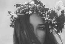 """Fleur / with love in her eyes and flowers in her hair.  all things flowers.  """"I must have flowers. always and always"""""""