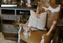 - Rustic Luxe - / Rustic lodge meets modern luxury.  / by Fabrics & Furnishings