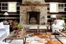 - Rustic Luxe - / Rustic lodge meets modern luxury.  / by Fabrics & Furnishings