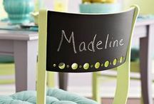 Chalk Creations / Write with chalk, or paint with chalkboard paint, the look is unique and great for any project.